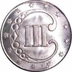 Three cent silver, reverse of type 1