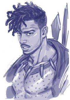 Michael B Jordan/Black Panther/Killmonger fanart
