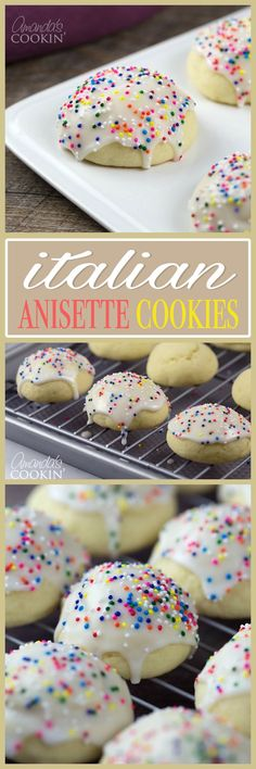These anisette cookies will have all your guests swooning. These classic Italian goodies are a holiday favorite, make a batch for your next gathering! (Favorite Desserts Hands)