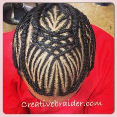 Freestyle braids #men #design #cornrows #freestyle #art #hairporn #professional #braider