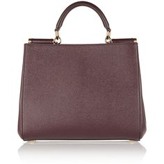 Dolce & Gabbana Medium Dauphine textured-leather tote ($1,436) ❤ liked on Polyvore featuring bags, handbags, tote bags, leather, purses, totes, merlot, zippered tote bag, dolce gabbana tote and pocket tote
