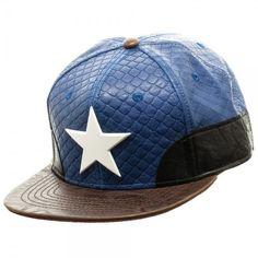 143c2f0d8c2 Marvel Captain America Suit Up Faux Leather Snapback Cap Hat Civil War