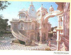 *The modern ISKCON Krishna temple in Mathura*