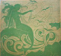 ♒ Mermaids Among Us ♒ art photography paintings of sea sirens water maidens - green mermaid