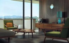 mid century living. Repinned by Secret Design Studio, Melbourne. www.secretdesignstudio.com