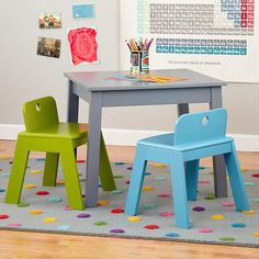 Here, There, Anywhere Play Table (Grey) in Play Tables | The Land of Nod  Place under Alex's loft bed....