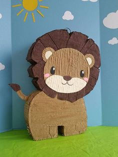 🎉🎉 look at that cute little lion 🦁🍬❤🍭 Do you need a Piñata for your FIESTA? Safari Theme Birthday, Baby Boy 1st Birthday, Jungle Party, Safari Party, Jungle Safari, Pinata Party, Festa Party, Jungle Decorations, Animal Party