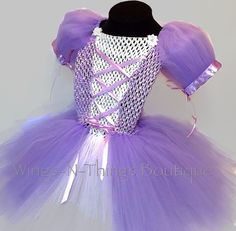 LAVENDER PRINCESS COSTUME Tutu Dress, Halloween, Purple & White, The First, Sofia, Birthday Party, Outfit, Kids, Baby, Toddler, Girls, Child by wingsnthings13. Explore more products on http://wingsnthings13.etsy.com