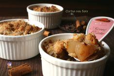 Crumble pere, cioccolato e cannella.Il crumble è un dolce di origine inglese e ne esistono due versioni, quella dolce e quella salata.
