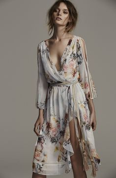 Primrose Split Sleeve Midi Dress | We Are Kindred