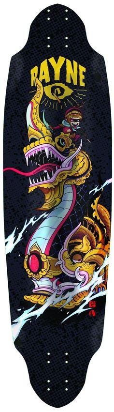 """Rayne Avenger Black - Deck Only. Length: 37"""" / 94 cm, Width: 10"""" / 25.5 cm"""