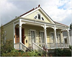 New Orleans Homes and Neighborhoods » Colorful Homes and Barackets, Porches, and Shutters in New Orleans this week…..