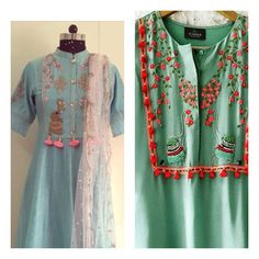 Stylish kurti neck designs for women - ArtsyCraftsyDad Pakistani Dresses, Indian Dresses, Indian Outfits, Shadi Dresses, Pakistan Fashion, India Fashion, Women's Fashion, Kurti Neck Designs, Blouse Designs