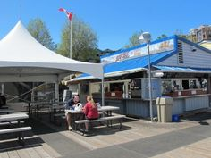 Had a tasty lunch of freshly caught Haddock at Barb's Fish and Chips on Fisherman's Wharf, Victoria.