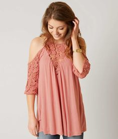 Gimmicks Cold Shoulder Top - Women's Shirts/Blouses in Mauve | Buckle