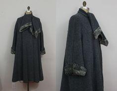 vintage 1940s coat / 40s swing coat / 40s grey by livinvintageshop