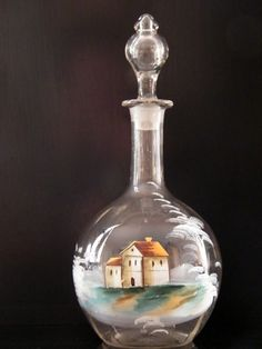 Colorfull Mary Gregory Decanter