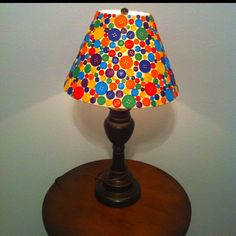 Button lamp for my little boys room