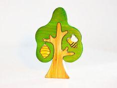 Waldorf Holz Baum mit Biene und Bienenstock Baum Puzzle Natur