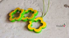 YELLOW & GREEN - Floral/Summer Collection - Handmade Terracotta  Necklace/Earrings.