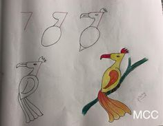 Kids friendly drawings Courtesy: My Creative Corner Drawing For Kids, Art For Kids, Easy Drawings, Pencil Drawings, Number Drawing, Easy Bird, Letters And Numbers, Preschool Crafts, Easy Crafts
