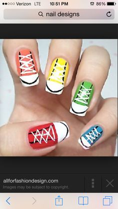 Cute and Creative intake on Converses