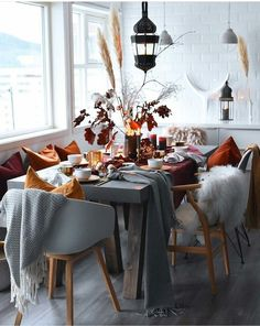 dining room, fall, and decour -kuva
