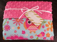 Baby girl is sure to snuggle with this owl baby blanket for years to come. Super stylish and modern pink minky blanket with owls is a great addition to the nursery. This girl minky blanket is super so