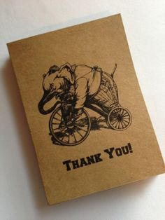 Circus Thank You Cards- Vintage Circus Inspired- Wedding, Birthday Party, Baby Shower (10)