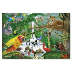 Melissa & Doug Rainforest Majesty Floor Puzzle