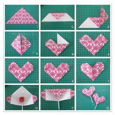 corazón de origami para regalar <3