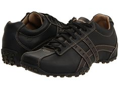 SKECHERS Midnight Black Smooth Leather - Zappos.com Free Shipping BOTH Ways