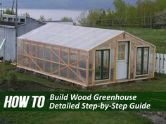 Building a wooden greenhouse might seem like a daunting task, but these easy to…