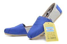 Toms Womens Color Block University Camp Shoes Blue White