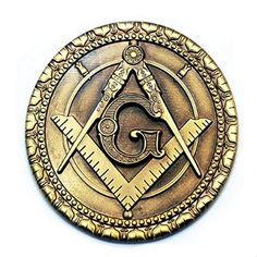 Masonic antique brass auto emblem - $11.99 from the MF Store