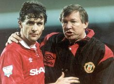 Mark Hughes and Alex Ferguson in 1994