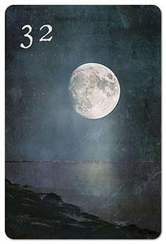 Mondnacht Lenormand Karte 32: Mond