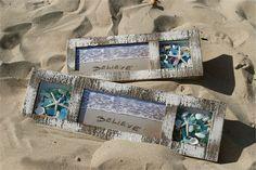 Shadow Box wall art with Seashells and glass