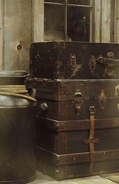 magnoliajones:  1/22:365~Antique Trunks by Relocated City Girl on Flickr.