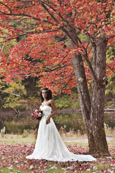 Outdoor Fall Bridal Session by Lis Photography - Melissa Hearts WeddingsMelissa Hearts Weddings