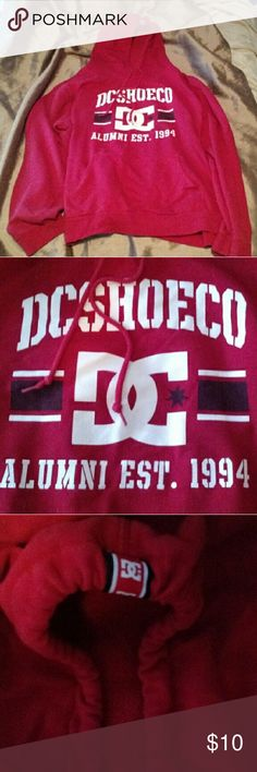 DC Shoe Co DYRDEK Red Hoodie This is a red DC Show Co / DYRDEK hoodie. Only worn a couple times. In great condition. Size is XXL but fits like a large or XL. DC Tops Sweatshirts & Hoodies