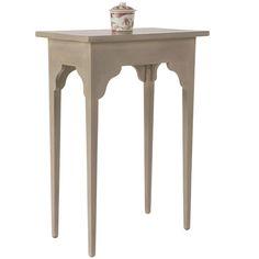Ashurst Sofa Side Table, Small - Cream/Natural W50 x D30 x H70cm