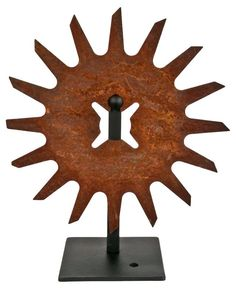 Cultivator Wheel on Iron Stand