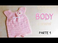 Como tejer un body, enterito a crochet (1/2) - YouTube