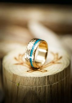 Gold Wedding Rings, Gold Engagement Rings, Wedding Bands, Gold Rings, Turquoise Wedding Band, Turquoise Rings, Or Rose, Rose Gold, Engraved Rings