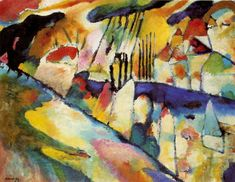 'Landscape', Oil by Wassily Kandinsky (1866-1944, Russia)