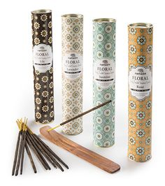 Floral fragrances, 30 incense sticks in tube