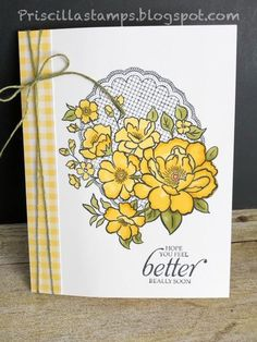 Stampin' Amigos: Lovely Lattice, Part II Get Well Cards, Baby Kind, Pretty Cards, Flower Cards, Homemade Cards, Stampin Up Cards, Note Cards, Cardmaking, Birthday Cards