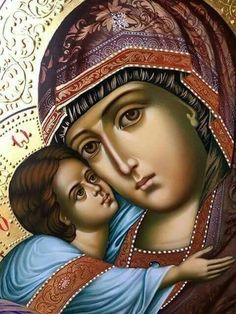 <<Во имя Отца и Сына и Святаго Духа! Аминь!>> Religious Icons, Religious Art, History Icon, Ballet Painting, Images Of Mary, Christian Artwork, Russian Icons, Mary And Jesus, Byzantine Icons