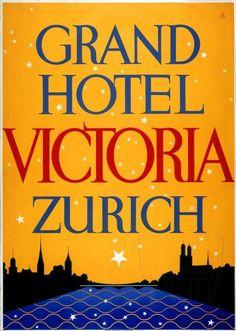 Grand Hotel Victoria, Zürich ~ Charles Kuhn